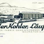 Die Zementwarenfabrik der Gebrüder Kohler in Läufelfingen an der Alten Hauensteinsteinlinie